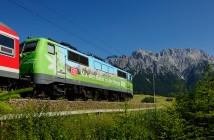 Bahnfahren in die Berge