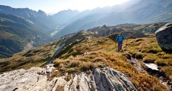 Wandern über die Alpen